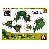 Schmidt Spiele Puzzle 56283 Die Kleine Raupe Nimmersatt, Meine ersten Puzzles, 6x3 Teile