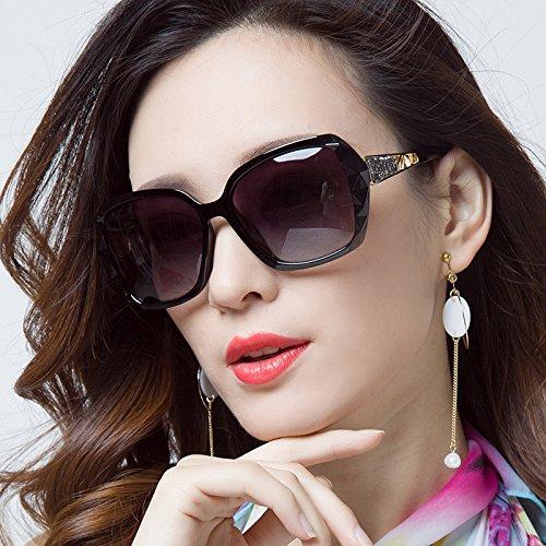 Die neuen Sterne, Hochglanz Sonnenbrille Frau tide Big Box rundes Gesicht Sonnenbrille langes Gesicht, große Augen Charme schwarzen Gesicht Sunyan