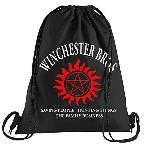 T-Shirt People Winchester Bros - The Family Business Sportbeutel - Bedruckter Beutel - Eine schöne Sport-Tasche Beutel mit Kordeln