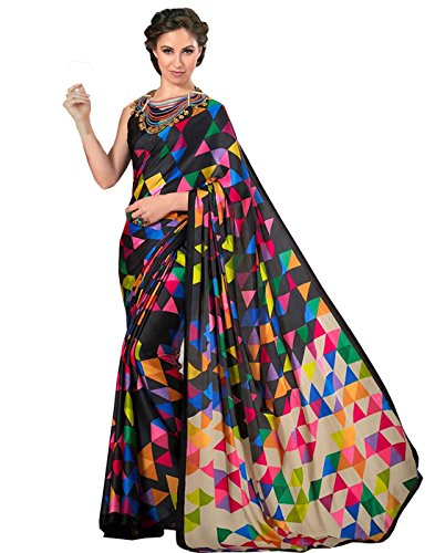 Sarees (Women's Clothing Saree For Women Latest Design Wear Sarees New Collection in Black Coloured Mysore Silk Material Latest Saree With Designer Blouse Free Size Beautiful Bollywood Saree For Women Party Wear Offer Designer Sarees With Blouse Piece)