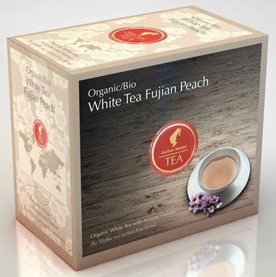 Julius Meinl BIO White Tee Fujian Peach Big Bag (1 Teebeutel für ca. 1 lt. Wasser), Bio Weißer Tee mit natürlichem Aroma – 20Beutel – 6x