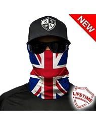 SA Company Union Jack UK Flag Design Face Shield - Multi-Coloured, One Size