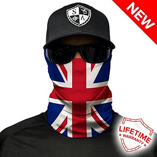 6c9f541e157 SA Company Union Jack UK Flag Design Face Shield - Multi-Coloured