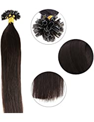 18 20 22 Inches Stick U Tip Hair Extensions Pre Bonded Keratin Human 1g