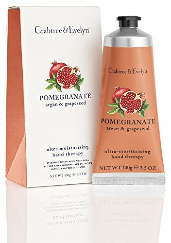 Crabtree & Evelyn Pomegranate, argan and grapeseed ultra-moisturizing hand therapy, 1er Pack (1 x 100 g) (Crabtree Handcreme & Evelyn)