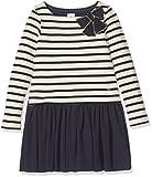 Petit Bateau Mädchen Kleid Robe ml COQ/SM 2614260, Mehrfarbig (Coquille/Smoking 60), 104 (Herstellergröße: 4ans/104cm)