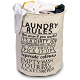 BUCKETLIST® Folding Large Waterproof Cloth Laundry Basket,Laundry Bag,Collapsible Storage Bag with Handles,Storage Bin for Bedroom, Nursery, Dorm, Or Closet,Toy Storage,Books Storage