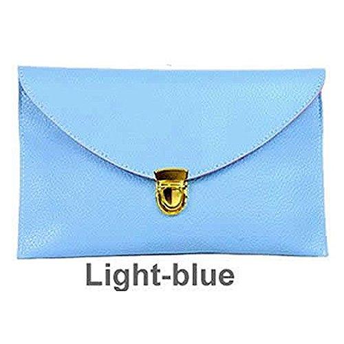 SODIAL(R), Borsa tote donna Arancione arancione Blu (Azzurro)