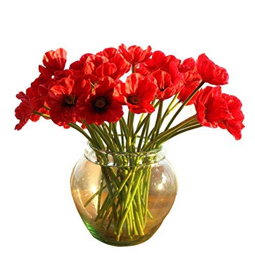 Kitchnexus Künstliche Mohnblume Gefälschte Mohn Blumenstrauß PU Poppy Flowers Deko...