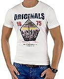 JACK & JONES Herren T-Shirt Summer-Sale Verschiedene Modelle (L, Weiß (Cloud Dancer Fit:Slim jjorSPICE))