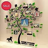 Stickers Arbre Mural, 3D Stickers Muraux Cristal en Acrylique Arbre avec des et des Cadres de Photo pour Décoration de la Maison