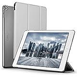ESR Funda iPad Air 2 con Auto-Desbloquear y Función de Soporte [Ligera] de Cuero Sintético y Plástico Duro Transparente Esmerilado Cover Cáscara para Apple iPad Air 2 -Gris