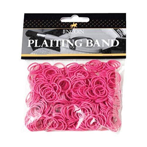 LINCOLN Mähnen-Gummi (500 Stück) (Einheitsgröße) (Pink) - Zopf-gummis