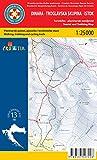 Dinara Ost 1:25.000 Wanderkarte (Kroatien)