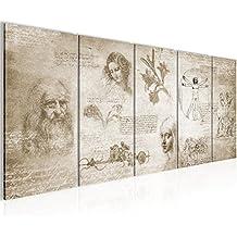Cuadros de 200 x 80 cm - Cuadro de CREATION OF Leonardo Da Vinci - Cuadro en lienzo no tejido - Imagen artística en lienzo para la pared - Impresión de arte – Imagen para la pared – Formato XXL –Más colores y tamaños en la tienda – ¡¡¡Totalmente estirados!!! ¡¡¡100 % FABRICADOS EN ALEMANIA!!! - 700455a