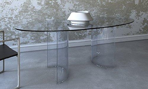 Bürotisch für Besprechungen, modern. Glastisch mit