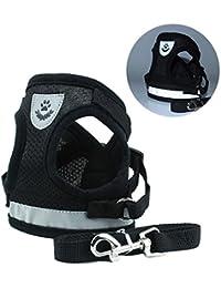 Zolimx® Ropa Para Mascotas Perros, Mascotas Cachorro Perro Suave Malla Caminar Pecho Collar Correa