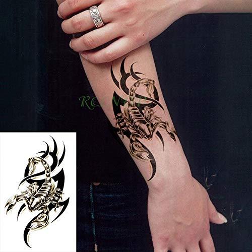 tzxdbh 3 Stücke-wasserdichte Tattoo Aufkleber Tiger Tier Feder Blume Shell Tattoo Mädchen Mädchen Junge Kind Tattoo 3 Stücke- -