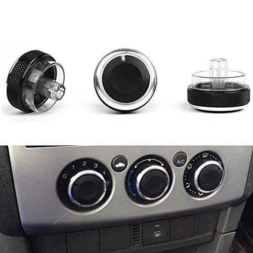PolarLander 3pcs / Lot Klimaanlage Heat Control Switch Knopf Auto Styling Schwarz (Ac-hitze-switch)