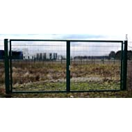 Hochwertiges, 2-flügeliges Industrietor / Einbau-Breite: 8m - Einbau-Höhe: 2m - Rahmen: 60 x 30mm / Rahmen grün beschichtet / Doppeltor Gartentor