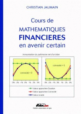 Cours de mathématiques financières en avenir certain : Immunisation du patrimoine net d'un bilan