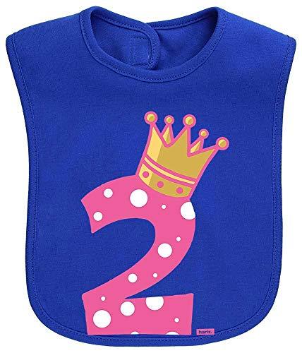 HARIZ Baby Lätzchen Prinzessin Krone 2 Geburtstag Kleinkind Plus Geschenkkarten Royal Königs Blau