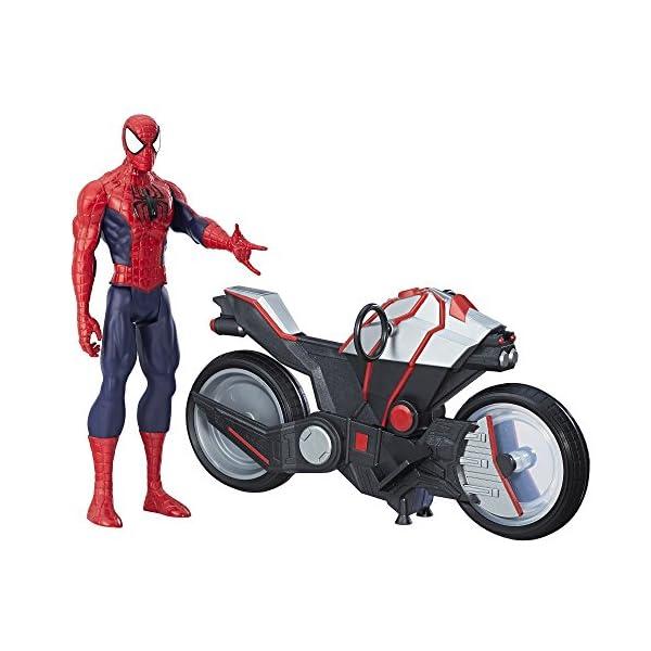 Marvel Spiderman - Figura Spiderman, con vehículo (Hasbro B9767EU4) 1