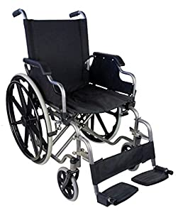 Rear and Foldable Wheelchair | Wheelchairs for Elderly People | Model Giralda | Mobiclinic | Ergonomic seat and Back | Seat Width 46 cm | Steel | Height 91 cm | Maximum Weight 100 kg | Mobiclinic