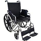 Silla de ruedas plegable y autopropulsable | Modelo Giralda | Asientos y respaldos ergonómicos | Acero | Altura 91 cm | Peso Máximo soportado 100 kg | Ancho de asiento: 46 cm