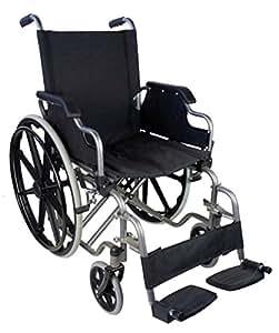Sedia a rotelle pieghevole ad autospinta | Braccioli ribaltabili e peggiapiedi estraibili | Sicura e maneggevole | Larghezza seduta: 46 cm | Peso massimo sopportato: 100 Kg | Modello Giralda | Mobiclinic
