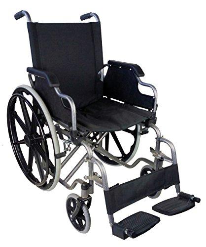 Mobiclinic Silla de Ruedas Plegable | autopropulsable | reposabrazos abatibles | Color Negro | Ancho 43 y 46 cm | Mod. Giralda