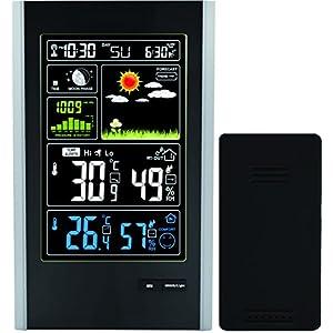 Think Gizmos La Stazione Meteo Wireless con sensore Interno/Esterno e USB ricarica-TG646 Stazione Meteo Orologio con previsione di Temperatura con aggiornamenti/umidità, Prodotto Venduto