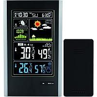 Estación Meteorológica Sensor Inalámbrico de Interior / Exterior y Puerto de Carga USB - TG646 Reloj de la Estación Meteorológica con Iconos de Color para Predicción / Temperatura con Alertas / Humedad de Think Gizmos.
