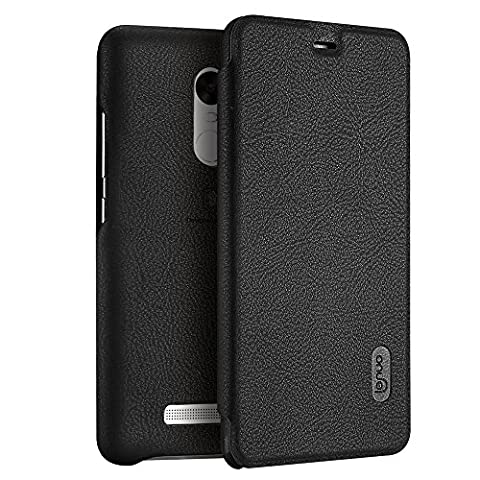 Xiaomi Redmi Note 3 Pro Special Edition Case, Lenuo Protective Shell Premium PU Leather Wallet Case Flip Cover with Card Holder for Xiaomi Redmi Note 3 Pro Prime SE 152 mm - Black