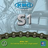 KMC Kette S-1 (Nabenschaltung & Singlespeed), 1/2 x 1/8, 112 Glieder, 8,6 mm, braun (1 Stück)