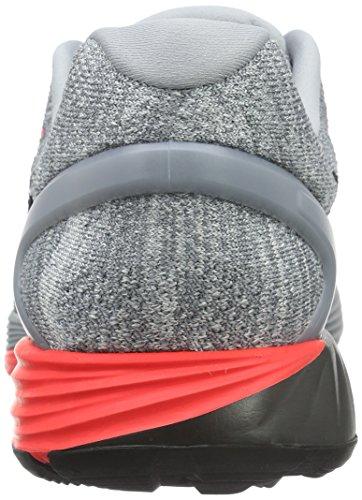Nike Lunarglide 7, Chaussures de Running Entrainement Homme Gris (Wolf Grey/Bright Crimson/Cool Grey/Schwarz)