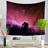 Creative Tapestry, Sky Night Pattern Tapestry, Wall Decoration, Outdoor Beach Towel , B , 150*130