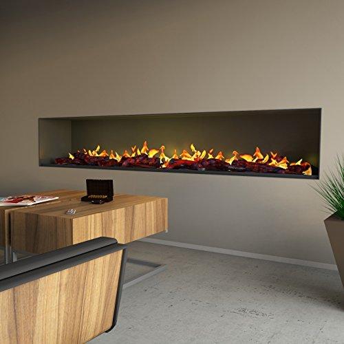 muenkel design Wall Fire Electronic Pro - Chimenea eléctrica (2200 mm, con...