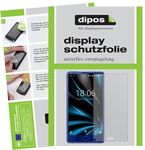 dipos I 2X Schutzfolie matt passend für Doogee Mix Lite Folie Bildschirmschutzfolie
