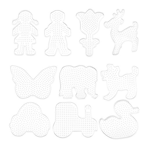 10pcs Pegboards for Perler Beads Kids Pegboard Template Board Hama Fuse Bead Clear Square Design Board