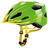 Uvex Unisex - Kinder Fahrradhelm Quatro Junior, green/yellow, 50-55cm, 4142571015