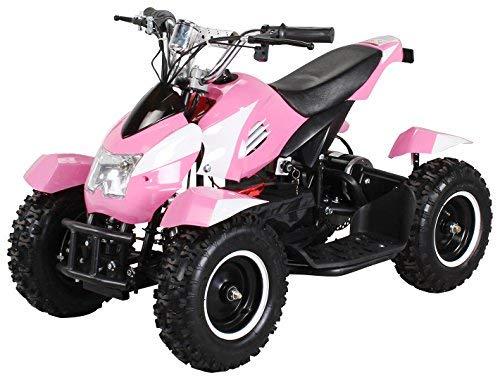 Actionbikes Motors Mini Kinder Elektro Quad ATV Cobra 800 Watt 36 V Pocket Quad - Original Saftey Touch - Kinder E Bike (Pink/Weiß)