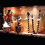 [ Kostenlose Lieferung - 7-12 Tage] Weihnachtsweihnachtsschneeflocke Ren Fenster Aufkleber Dekoration BML® // Christmas Santa Snowflakes Reindeer Window Sticker Decoration