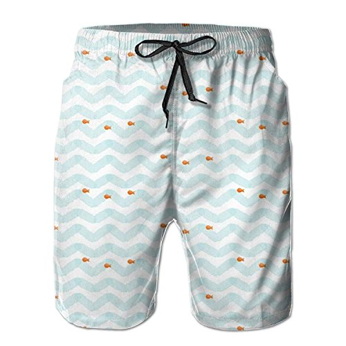khgkhgfkgfk Fish Swiming Men's Summer Casual Swimming Shorts Beach Board Shorts X-Large
