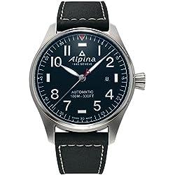 Reloj Alpina Startimer Pilot Automatic, AL-525, 44mm, Negro, Día, AL-525NN4S6