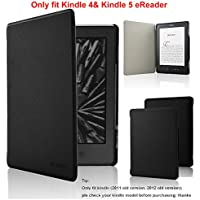 Kindle Case - ACdream Amazon Kindle 5 & Kindle 4 Protective Case - Ultra Slim PU Leather Cover Case for Amazon Kindle 4 / Kindle 5 With Magnet Closure (Only fit kindle 4,not fit kindle 7th Generation Or kindle paperwhite/kindle touch), Black