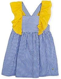 Tutto Piccolo 6260S19 Vestido Niña Manga Corta Algodón (Tallas de 6 Meses a  12 años) Estampado de Rayas 687b32ef10191