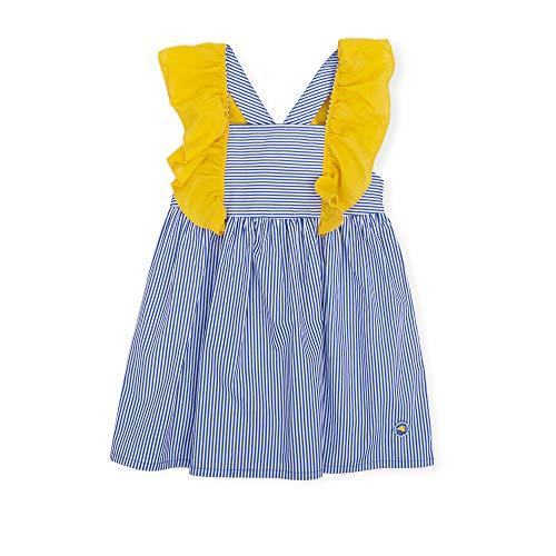 Manga Tutto Y 6260s19 Corta 6 Azul Piccolo Algodóntallas RayasColores A Vestido Niña 12 De Meses Amarillo AñosEstampado R3A4L5j