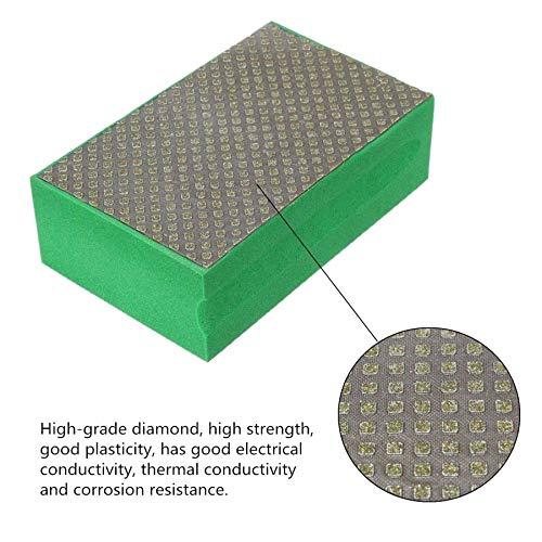 PRINDIY Galvanisierte Diamant-Handpolierpads Diamant-Handschleifpads für das Schleifen von Keramik-Granit-Marmor-Stein-Glasschaum