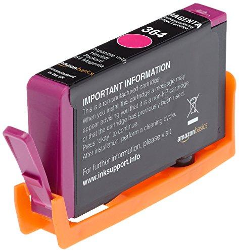 AmazonBasics - Cartuccia d'inchiostro rigenerata, sostituisce HP 364 (Magenta)